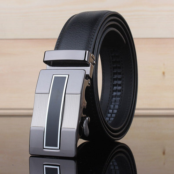 Belt - Designer Automatic Buckle Leather Strap Belt