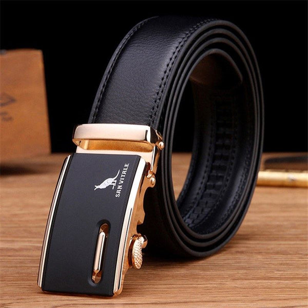 Belt - Luxury Automatic Buckle Designer Leather Business Belt