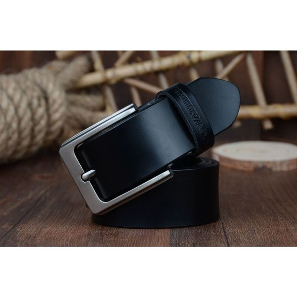 Belt - Luxury Leather Strap Genuine Cow Leather Belt