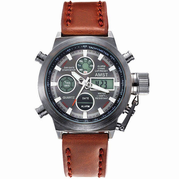 Casual Watch - AMST Luxury Multifunction Leather Band Watch