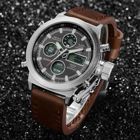 Casual Watch - AMST Luxury Multifunction Leather Military Sport Watch