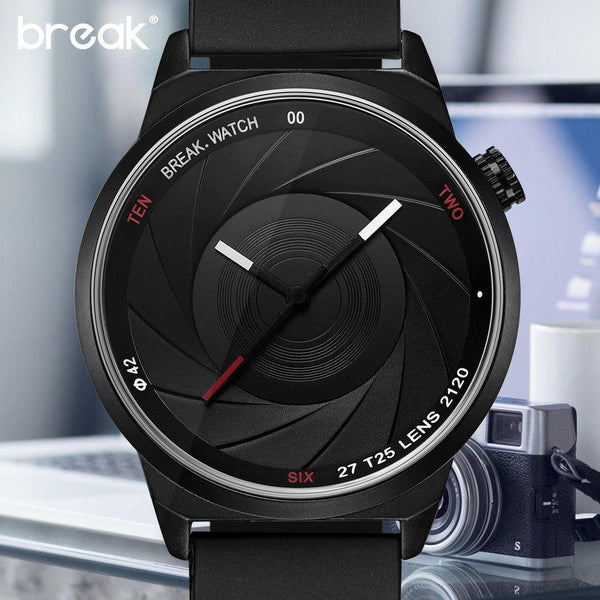 Casual Watch - BREAK Photographer Chic Steel Or Leather Modern Watch