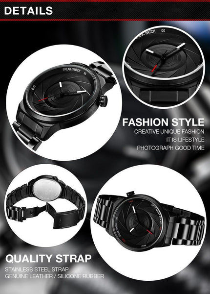Casual Watch - BREAK Rubber Strap Luxury Photographer Watch