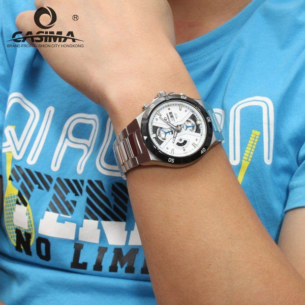 Casual Watch - CASIMA Ultra Modern Style Luxury Steel Watch With Subdials