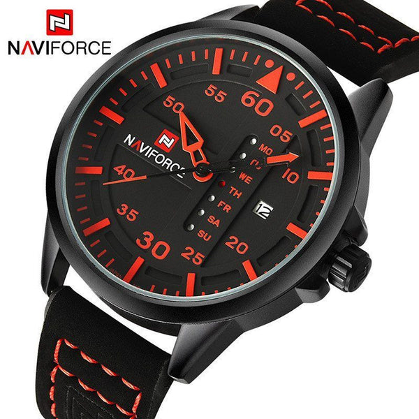 Casual Watch - NAVIFORCE Leather Band Luxury Quartz Wrist Watch