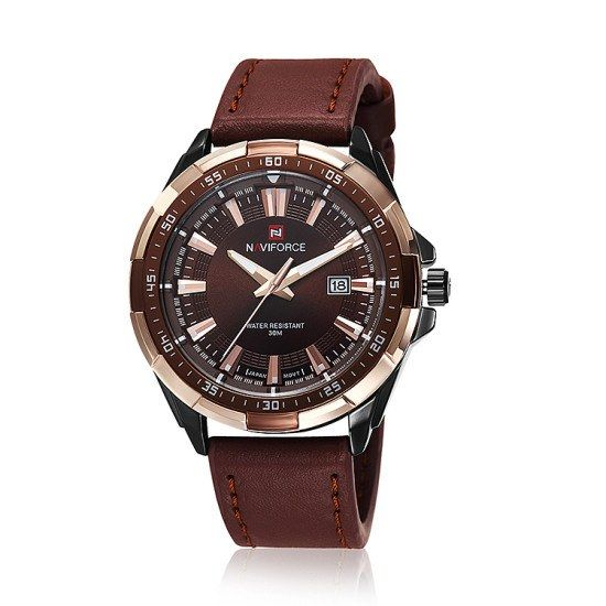 Casual Watch - NaviForce Luxury Men's Leather Band Wrist Watch