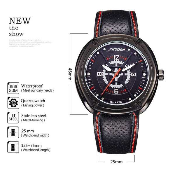 Casual Watch - Sinobi Chronograph Military Spider-man Style Wrist Watch