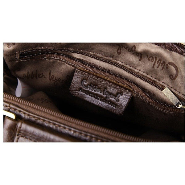 Messenger Bag - Designer Men's Genuine Leather Business Shoulder Messenger Bag