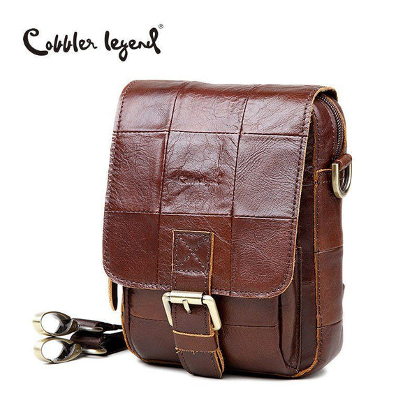 Messenger Bag - Vintage Style Genuine Cowhide Leather Crossbody Messenger Bag