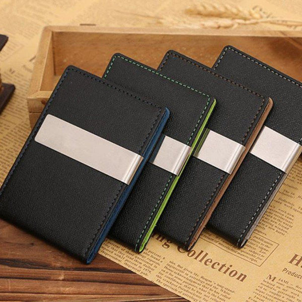 Money Clip - PU Leather Money Clip Wallet