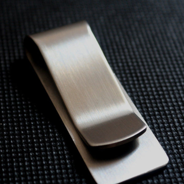 Money Clip - Stainless Steel Minimal Design Cash Money Clip