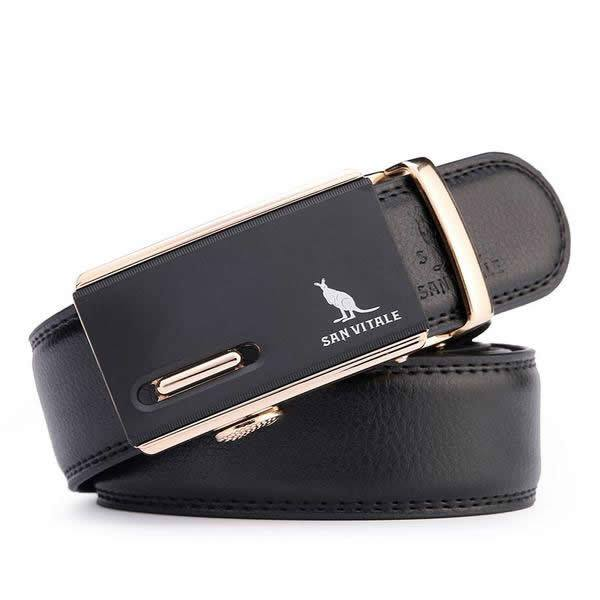 Luxury Automatic Buckle Designer Leather Business Belt