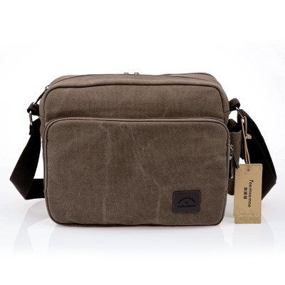 Luxury Canvas Casual Travel Crossbody Messenger Bag
