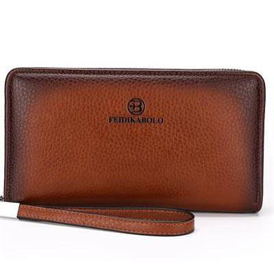 Luxury Leather Multi-Compartment Handy Bag Clutch Wallet
