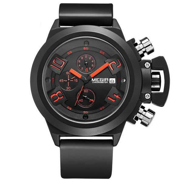 MEGIR 24HR Silicone Band Uber Sports Watch