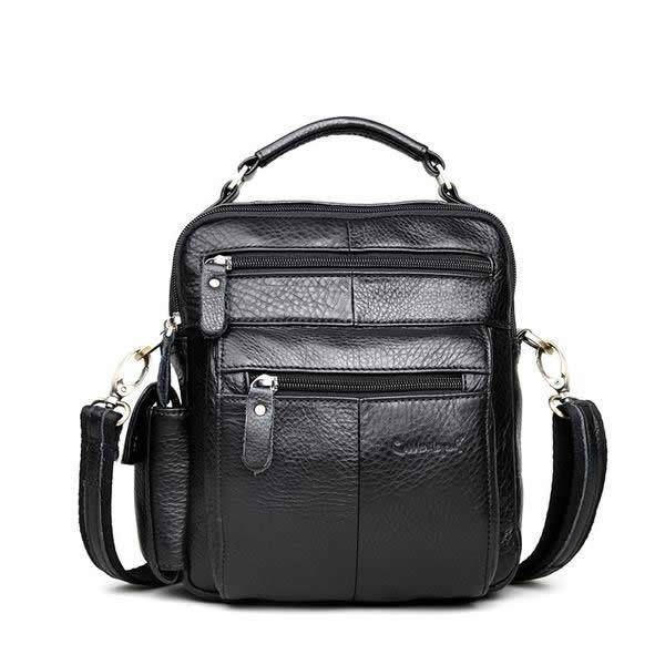 Designer Men's Genuine Leather Business Shoulder Messenger Bag