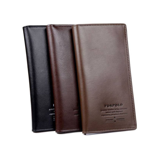 Leather Cluch Credit Card Holder Wallet