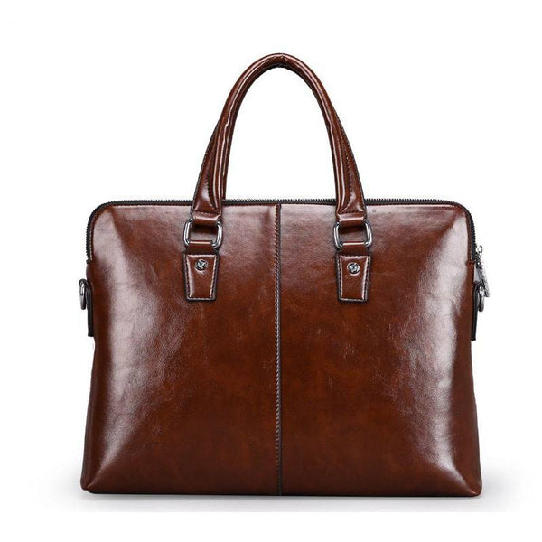 Leather Briefcase Laptop Tote Crossbody Messenger Bag