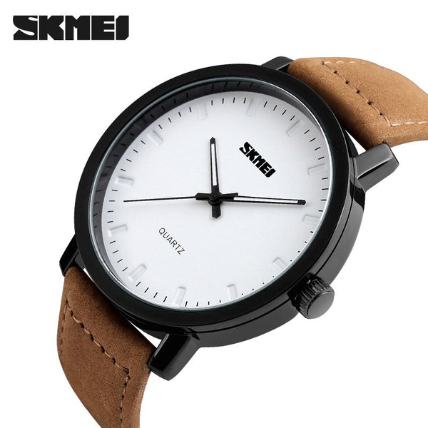 SKMEI Leather Band Casual