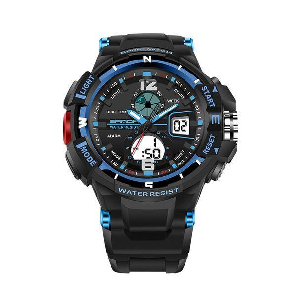 SANDA Dual Display Men's Sport Watch