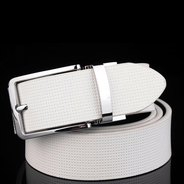 Pin Buckle Genuine Leather Luxury Mens Belt