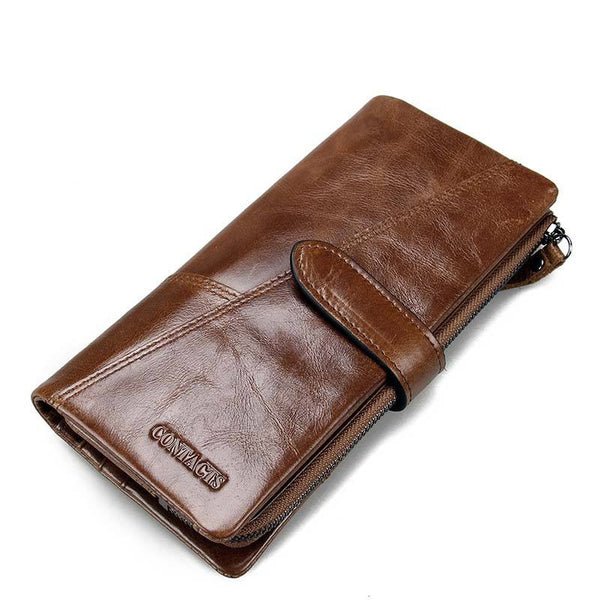 Genuine Crazy Horse Cowhide Leather Long or Standard Clutch Wallet