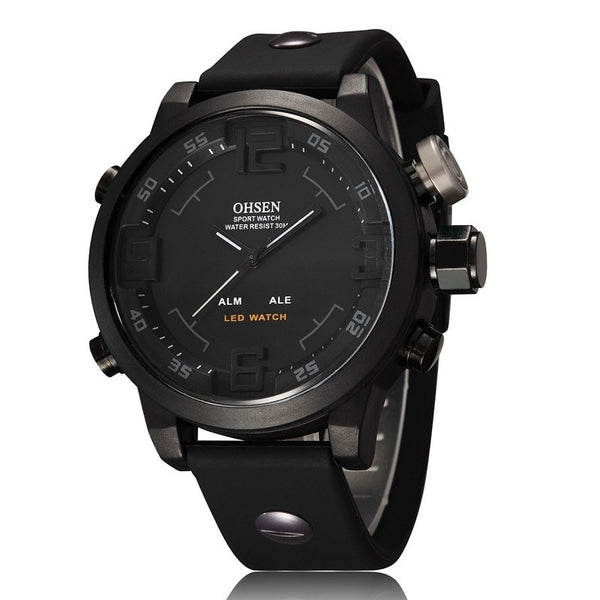 OHSEN LED Digital and Analog Men's Sports Watch