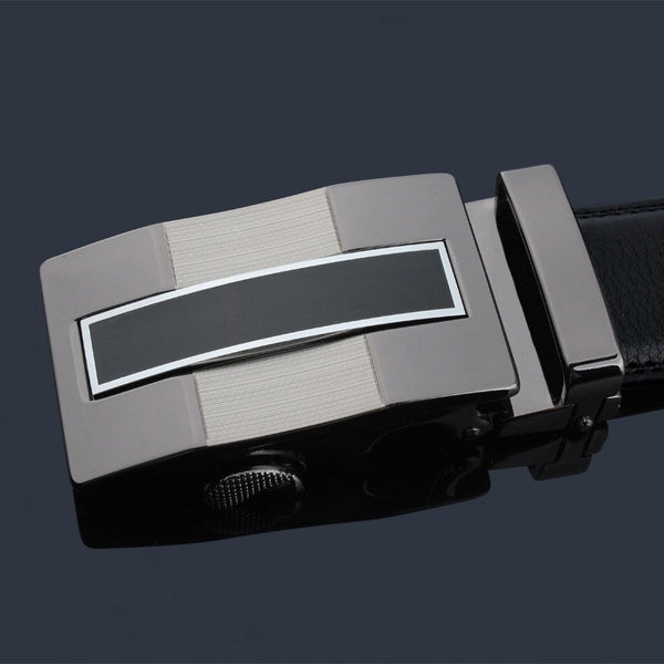 Designer Automatic Buckle Leather Strap Belt