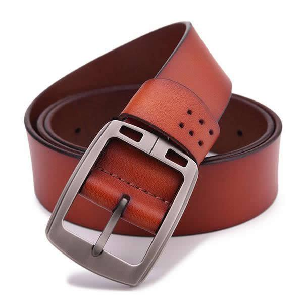 Genuine Cowhide Leather Cowboy Style Luxury Belt