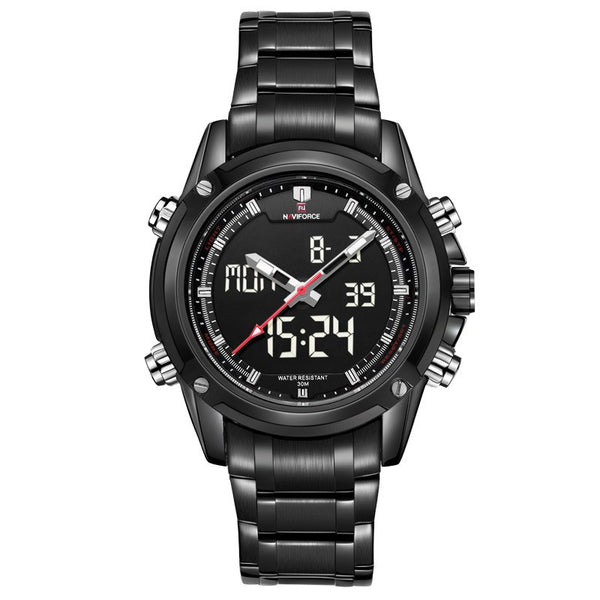 Naviforce Military Style Full Steel Sports Watch