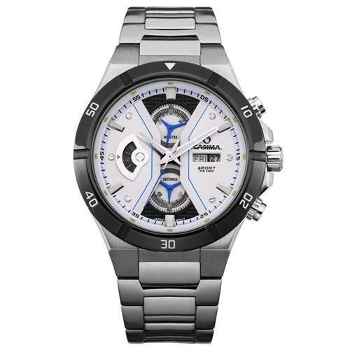 CASIMA Ultra Modern Style Luxury Steel Watch with Subdials