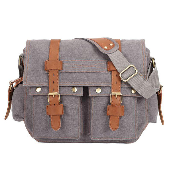 Vintage Canvas Military Style Canvas Crossbody Messenger Bag