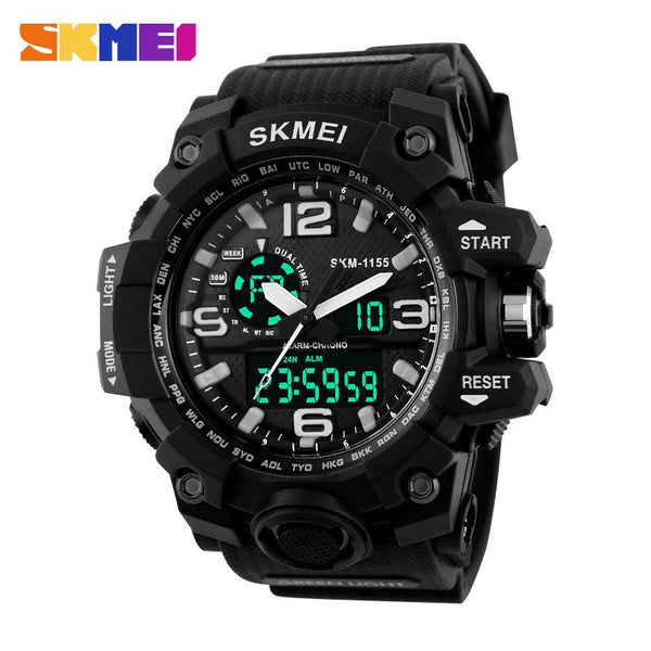 SKMEI Ultra Rugged Digital Analog Dual Display Military LED Sport Watch