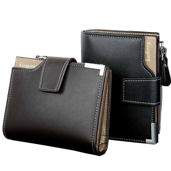 Multifunction High Capacity Trifold Genuine Leather Wallet