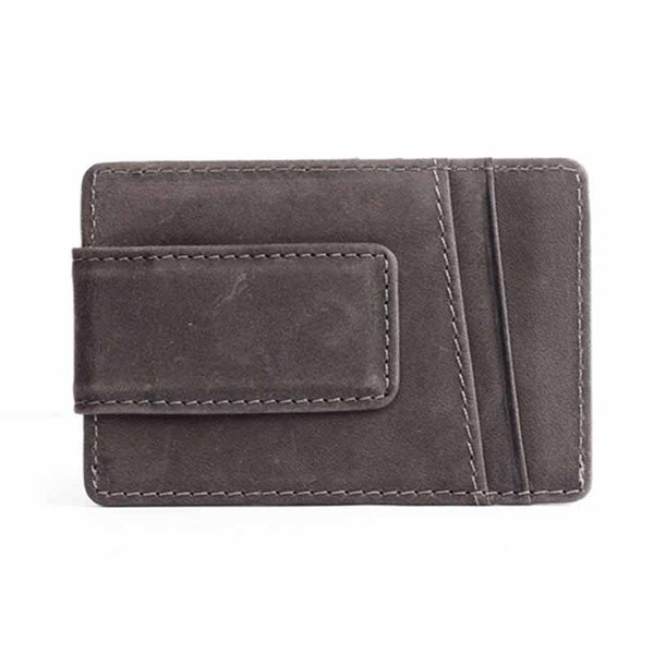 Vintage Style Leather Money Holder with Clip