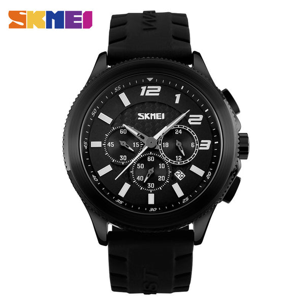 SKMEI The Ultimate Racer Silicone Strap Luxury Watch with Functional Subdials