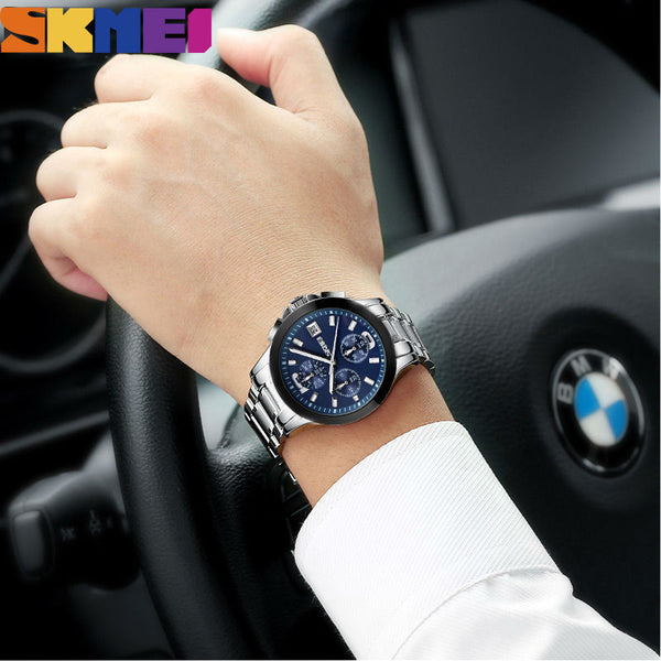 SKMEI The Elitist - Business Quartz 30M Six-Pin S Watch with Functional Subdials