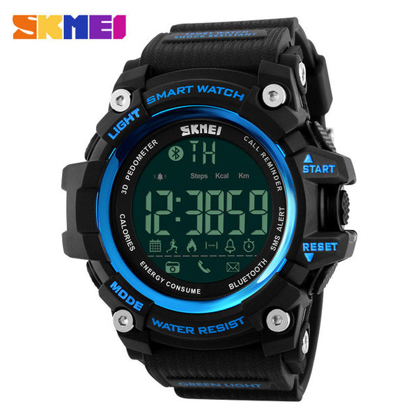 SKMEI Smart Watch Pedometer Calories Chronograph 50M Digital Sport Watch