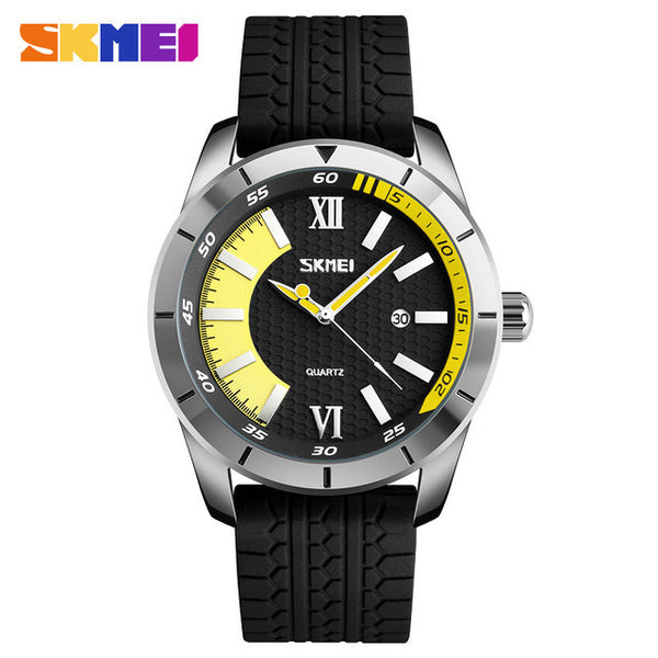 SKMEI The Red Baron Casual Silicone Strap Watch