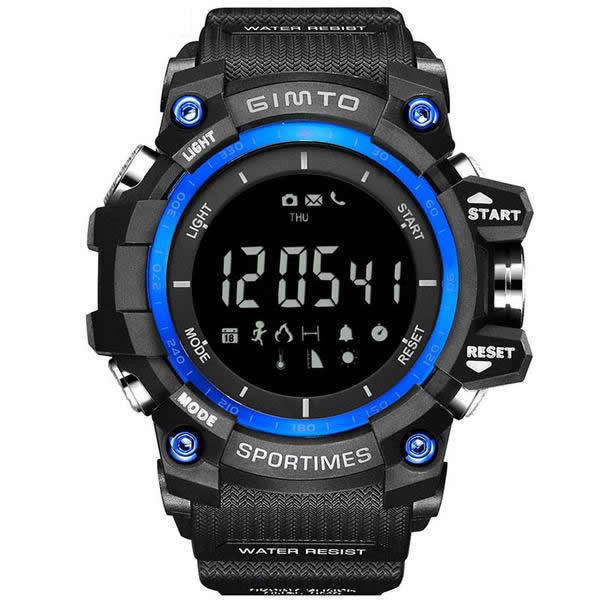 Gimto Sport Pedometer Altimeter Temperature Shock Sports Watch