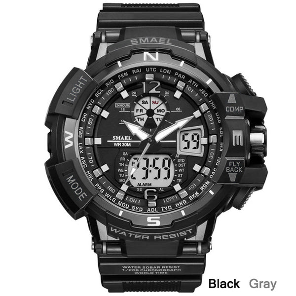 SMAEL Tough Sport Military Watch LED Digital Quartz
