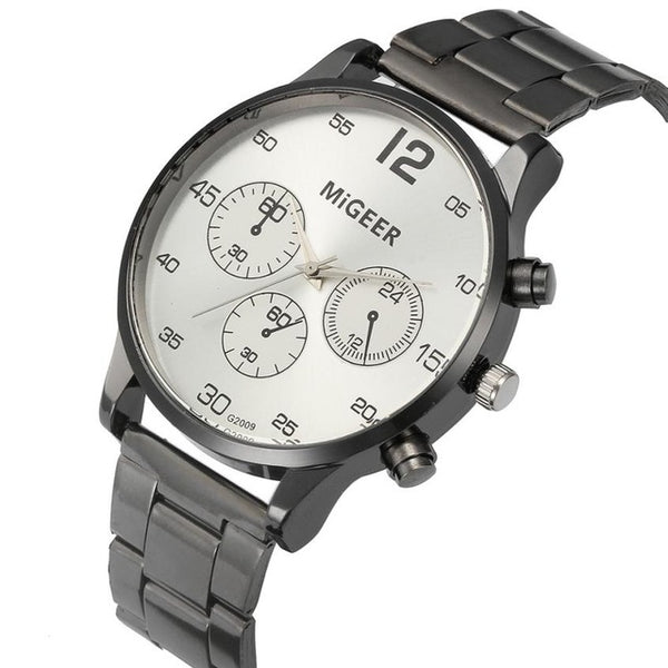 MIGEER Quartz Stainless Steel Business Watch