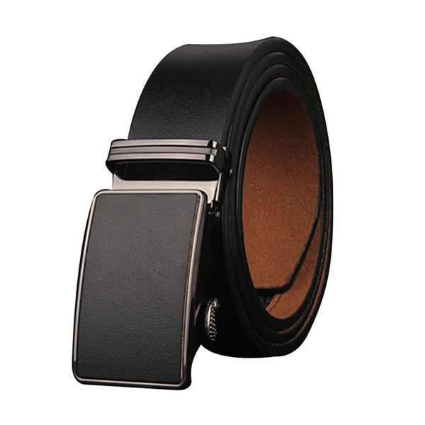 Genuine Cow Hide Leather Belt Automatic Buckle