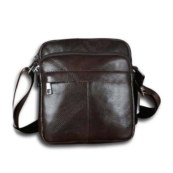 Genuine Leather Small Shoulder Messenger Crossbody Leisure Bag