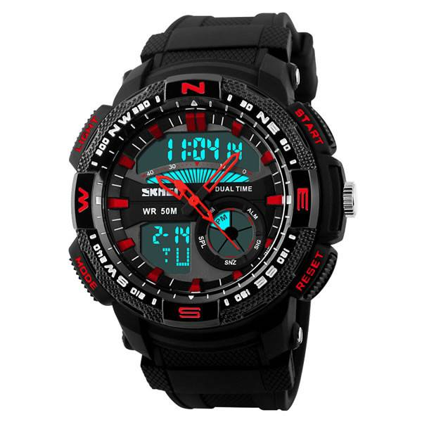 SKMEI Military Style Army LED Rubber Strap Sports Watch