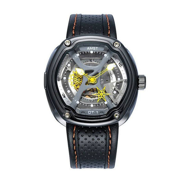 Sport Watch - AMST Creative Dial Leather Strap Sport Watch