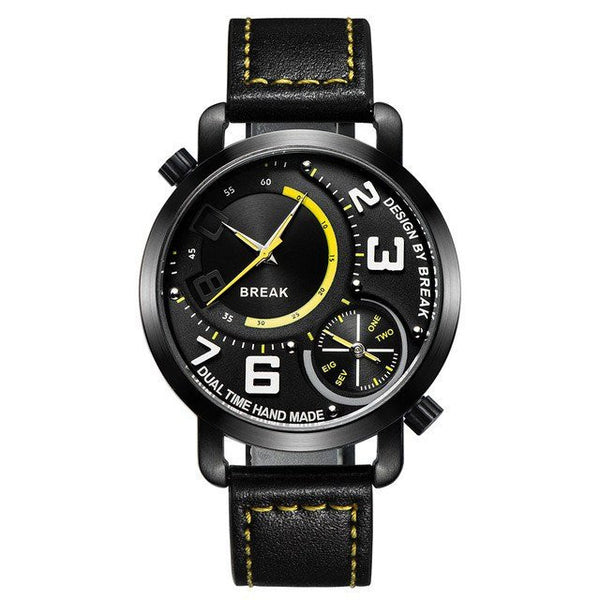 Sport Watch - BREAK Genuine Leather Dual Display Sports Watch