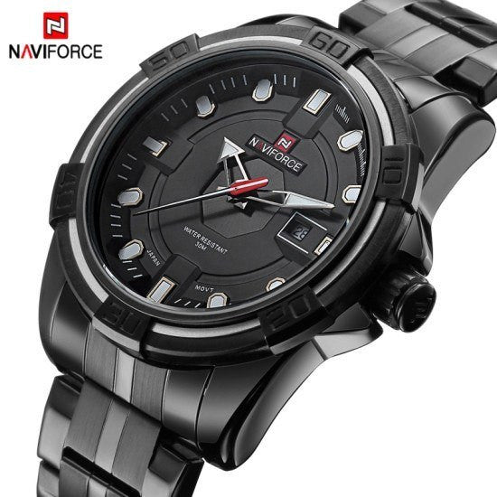 Sport Watch - NaviForce Luxury Full Steel Military Quartz Sport Watch