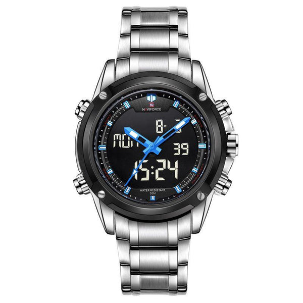 Sport Watch - Naviforce Military Style Full Steel Sports Watch