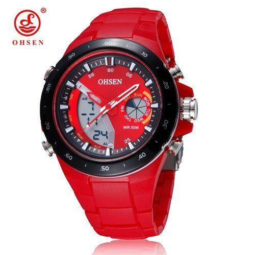 Sport Watch - OHSEN Dual Display Silicone Band Sports Watch
